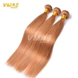 Wholesale Silky Straight Remy Blonde Weave - Brazilian Virgin Hair Straight Blonde Bundles Brazilian Hair 3pcs Silky Straight Brazilian Honey Blonde Virgin Hair Weave 27#