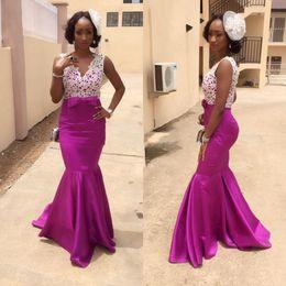 Wholesale Type Dress Collars - The new 2017 elegant and sexy bridesmaid dresses collar type v-neck sleeveless lace bowknot fishtail skirt taffeta