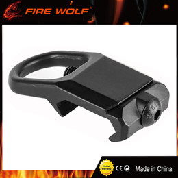 Wholesale Rail Sling - FIRE WOLF Sling Mount Plate Adaptor Attachment fits 20mm Picatinny Rail Adapter Black