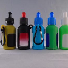 Wholesale Silicon Cap Bottle - 30ML New Design Colorful Temper Proof Cap Glass Dropper Bottles With Cork IN Silicon Rubber Case Package Set E liquid Round Glass Bottle