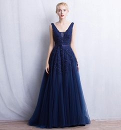 Wholesale Evning Gowns - Deep V neckline Tulle A line Party Homecoming Prom Dress Evning Gown