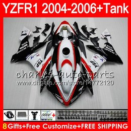 fairings body Coupons - 8Gift 23Color Body For YAMAHA YZF R 1 YZF 1000 YZFR1 04 05 06 red white 58HM22 YZF-R1000 YZF-R1 YZF1000 YZF R1 2004 2005 2006 Fairing kit
