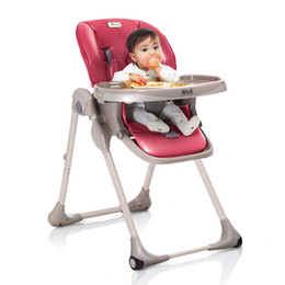 Wholesale Multi Function Chair - 2017 Europe new fashion multi-function baby high chair portable folding baby dining chair baby feeding chairs 2 colors free shipping
