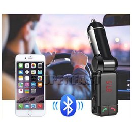 Wholesale Dual Aux - BC06 Bluetooth Car Charger MP3 Player AUX FM Transmitter Dual USB Put With Retail Package