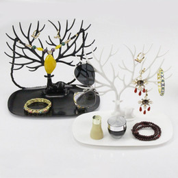 Wholesale Jewelry Necklace Tree Display - Tree Antler Shaped Design Plastic Jewelry Holder Bracelet Ring Necklace Earring Showing Display Stand Shelves Stocked Ornamental ZA2939