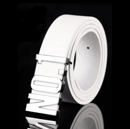 Wholesale Leather Belt For Boys - High Quality men uxury Belts mens cowskin leather belt brand designer Belts For Men Belts Gold silver Buckle free shipping