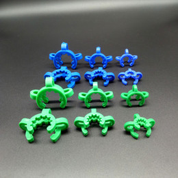 Wholesale Clamping Kit - 10pcs Sell 10mm 14mm 18mm  19mm Joint Plastic Keck Clips Lab Clamp Bong Clip For Glass Adapter Nectar Collector Kit