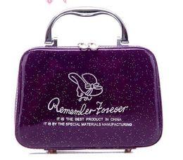 Wholesale Box Clutches - Fashion Mini clutch cosmetic Cross PU Multifunctional Bag Makeup Bag Toiletry Bag Case