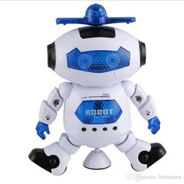 Wholesale Smart Toys Wholesale - Funny Cute Smart Humanoid Electronic Flashing Music Light Walking Dancing Smart Space Robot Astronaut Kids Toys(Color: White)