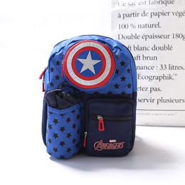 Wholesale Anti Lost Bag - Cartoon Kids Nylon Backpacks Captain America Mini schoolbag Anti lost knapsack for Children School Bags Girls Boys Backpack