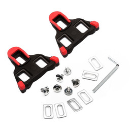 Wholesale Spd Pedal Self Lock - Hot Sale Road Bicycle Self-locking Cleats Cycling Shoes Accessories Bike Pedal Lock Card SM-SH11 SPD-SL Red Yellow Bike Shoes Lock