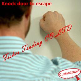 Wholesale Door Knock - Takagism game prop, Knock at the door to escape, secret in door, mystery game of door,real life game of escape room,adventurer