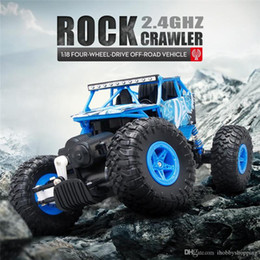 Wholesale Brushless Electric Rc Cars - 1 18 Scale RC Rock Crawler Car ABS Rubber Plastic Anti-interference RC Toy with Two Way Transmission for Kids upgrade version