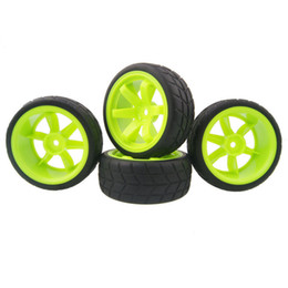 Wholesale hsp rc tires - RC HSP 703-6083 Rubber Tires & Wheel Rims 4P For HSP HPI 1:10 On-Road Racing Car