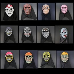 Wholesale Halloween Half Mask Men - Halloween Terrorist Mask EVA Mask Costume Party Masks There Is No Horror Only More Terror Face CCA7105 100pcs