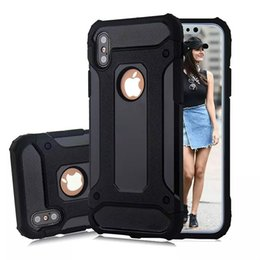 Wholesale Mobilephone Cases - For Apple iphone X 8 7 plus 6S cover case Samsung Galaxy note8 S8 plus S7 edge Steel armor TPU+PC mobilephone cases