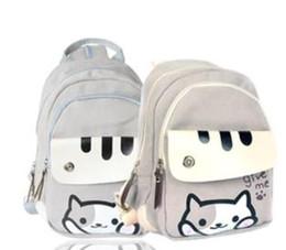 Meninas gato japonês on-line-Bonito Japonês Jogo Atsume Canvas Cat Quintal Impressão Mochila Mulheres Escola Adolescente Meninas Faculdade Casual Mochila em Poliéster estoque