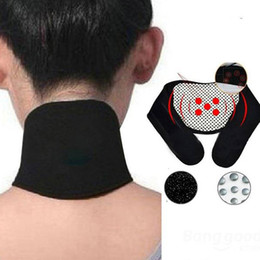 Wholesale Strap Massager - New Arrival Far Infrared Ray Heat Strap Neck Massager Brace Support Tourmaline Far Infrared Ray Heat Strap Relief Pain