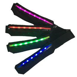 Wholesale Led Runing Lights - Wholesale-LED light Runing Belt for Men and Women Portable Lightweight Sweatproof Runners Running ponch Reflective Belt Sport bag
