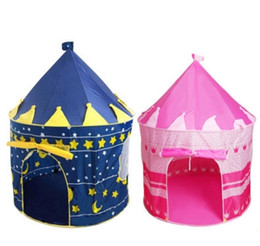 Wholesale Toy Princess Tent - Girls and Boys Foldable Game Toy Tents Indoor Princess Palace Castle Outdoor Play Tents Christmas Gifts