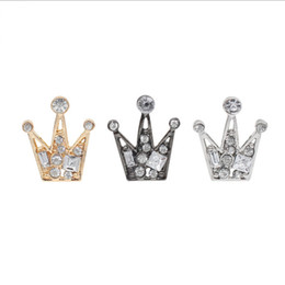 Wholesale Wedding Corsage Man - accessories fashion jewelry Retro badge Colorful small Imperial crown Brooch Corsage Badge lapel pin men and women wedding