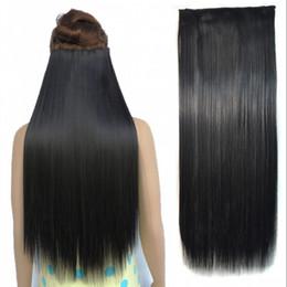 """Pedaços de cabelo longo brasileiro on-line-Sara 60CM, 24 """"Longa Reta Grampo Na Extensão Do Cabelo Brasileiro Extensões de Pedaço de Cabelo Por Atacado"""