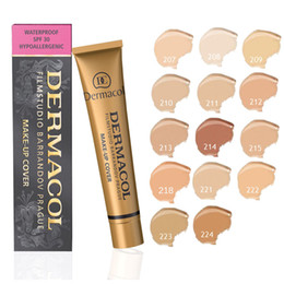 Wholesale Make Up Free Shipping Dhl - 2017 New Dermacol Make Up Cover With 13 Different Colors Extreme Covering Foundation Free DHL Shipping