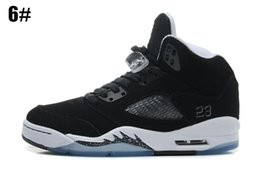 Wholesale Black Soccer Balls - 2018 Men Women Basketball Shoes Classic Retro 5 Basket ball shoe White Cement Black Metallic Red Suede Oreo Athletic Outdoor Shoes Bel-Air