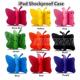 Wholesale Eva Ipad - Shockproof Butterfly Case Best EVA Soft Stander For iPad 234 iPad Air iPad Mini 9 Colors For Children