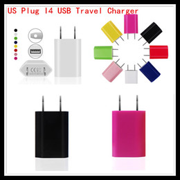 Wholesale Apple Iphone 5c Wall Charger - Factory Supply US Plug USB Travel Chargers 5V 1A AC Adapter US Plug Wall cable Charger for iPhone 5 5S 5C Samsung