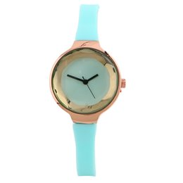 Wholesale Professional White Dresses - Latest Fashion Style Professional Wholesale Christmas Gift 7 Colors Silicone Women's Watch Casual Dress Wristwatch for Women