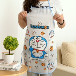 Wholesale Cute Cooking Aprons For Women - 2017 Promotion Special Offer HOT Cute Cartoon Waterproof Apron Kitchen Restaurant Cooking Bib Aprons Suits For Men And Women