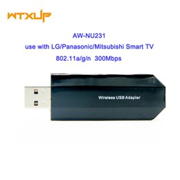 Wholesale Usb Wifi Lg - Wholesale- AzureWave AW-NU231 BCM4323 300Mbps 802.11a b g n USB Wireless Adapter wifi USB For LG Mitsubishi Smart TV Windows 7 8 10