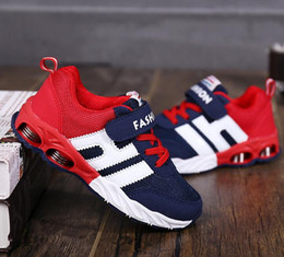 Wholesale Girls New Design Shoes - New Design Children Sports Shoes Boys Girls Spring Damping Outsole Slip Patchwork Breathable Kids Sneakers Child Running Shoes G514