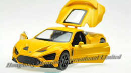 Wholesale Roadsters Cars - 1:32 Alloy Diecast Car Model For Danish Roadster Zenvo ST1 Collection Pull Back Toys Car With Sound&Light -Yellow   White   Gray