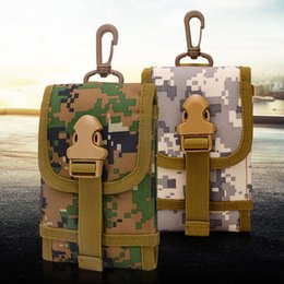 Wholesale Bag Hooks - Military Molle Hook Loop Phone Bags For Huawei Honor 8 Mate 8 7 S Camouflage Belt Pouch Case For Huawe P8 P9 Lite Wallet Pocket