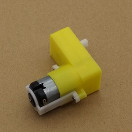 Wholesale Tt Gear Motor - 6V Bend Of Uniaxial Gear Motor TT Deceleration Motor Gearbox DC Geared Motor