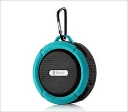 Wholesale Usb Removable - Bluetooth Wireless Speakers Waterproof Shower C6 Speaker with Strong Driver Long Battery Life and Mic and Removable Suction Cup DHL shipping