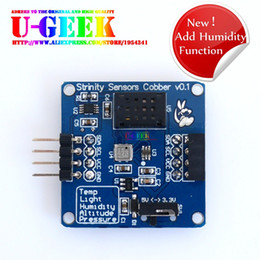 Wholesale Light Sensor For Arduino - Wholesale-U-geek Temperature, Barometric, Altitude, Light, Humidity Five in One Sensor Module for Arduino Raspberry Pi 3 2 B+,Suport Stack