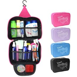 Wholesale Large Aluminum Makeup Case - Wholesale- Large Capacity Toiletry Hanging Cosmetic Case Bag Portable Women Make up makeup Organizer Storage Bags For Travel bathroom