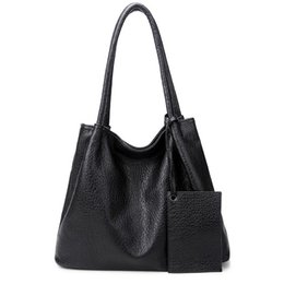 Wholesale Handbags Matching Wallet - Women Fashion Matching Satchel Handbags with Wallet Ladies Handbag PU Leather Tote Bag Composite Bag Designer Handbag Set
