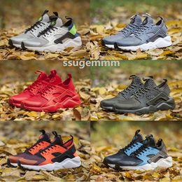 Wholesale Fleece Shoes - No box 2017 New Air Huarache ID Running Shoes Camouflage Huaraches Men And Women Sneakers Run Tech Fleece Huraches Sports Shoes Size 36-45