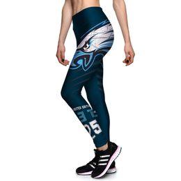 Wholesale Wholesale Patterned Leggings - Wholesale- S-XL Women's Slim Leggings 3D Printed Eagle Pattern Legins High Elastic Pants Fashion Fitness Leggings