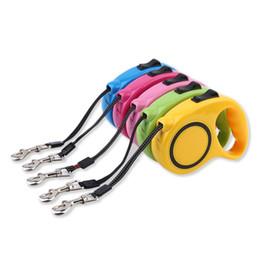 Wholesale Extending Leash - 2016 hot New 5M Retractable Dog Lead Leash Cable Reflective Extending Puppy Walking Leash Lead Pet Products Hauling Leash