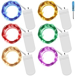 Wholesale Led Fireflies - Fairy String Lights 2m 20LED Battery Starry String Lights Copper Wire Firefly LED Moon Lights for Dinner