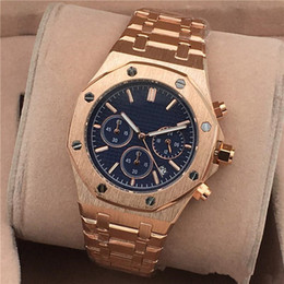 Wholesale Watches For Men Luxury Brands - All Subdials Work AAA Mens Watches Stainless Steel Quartz Wristwatches Stopwatch Luxury Watch Top Brand relogies for men relojes Best Gift