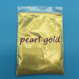 Wholesale Pearls For Nails - High Quality Mica pearl Gold powder Pigment for DIY decoration Paint Cosmetic 100g bag,Metal Gold for nail polish