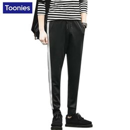Wholesale Casual Bootcut For Men - Wholesale- Sweatpants for Men 2017 Black Gray Mens Joggers Fitness Sweat Pants Casual Hip Hop Elastic Waist Full Length Trousers for Male