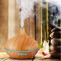 Wholesale Electric Home Diffuser - Air Humidifier Essential Oil Diffuser Aroma Lamp Aromatherapy Electric Aroma Diffuser Mist Maker for Home-Wood