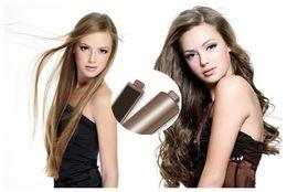 Wholesale Electric Dryer Plugs - 2017 Gold Plated Titanium Hair Iron Straightener Plates Brush Ceramic 2 In 1 Hair Curler Styling Tools US UK AU Plug